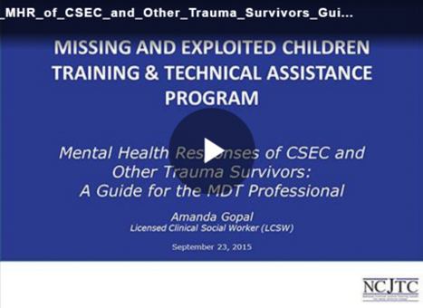 Mental Health Responses of CSEC and Other Trauma Survivors