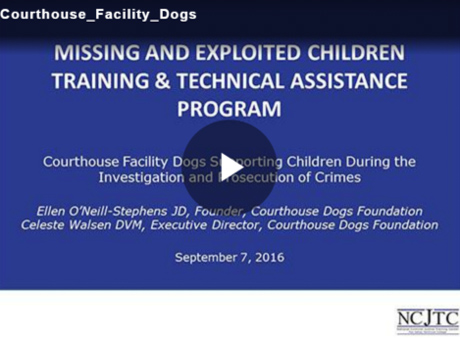 Courthouse Facility Dogs Supporting Children