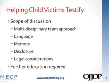 Helping Child Victims Testify