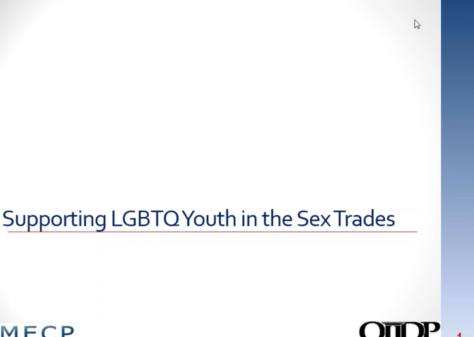 Supporting LGBT Youth in Sex Trades