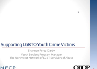 Supporting LGBT Youth Crime Victims