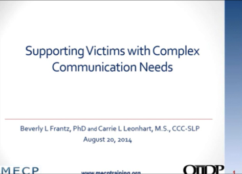 Supporting Victims with Complex Communication Needs