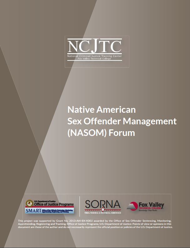 Native American Sex Offender Management (NASOM) Forum