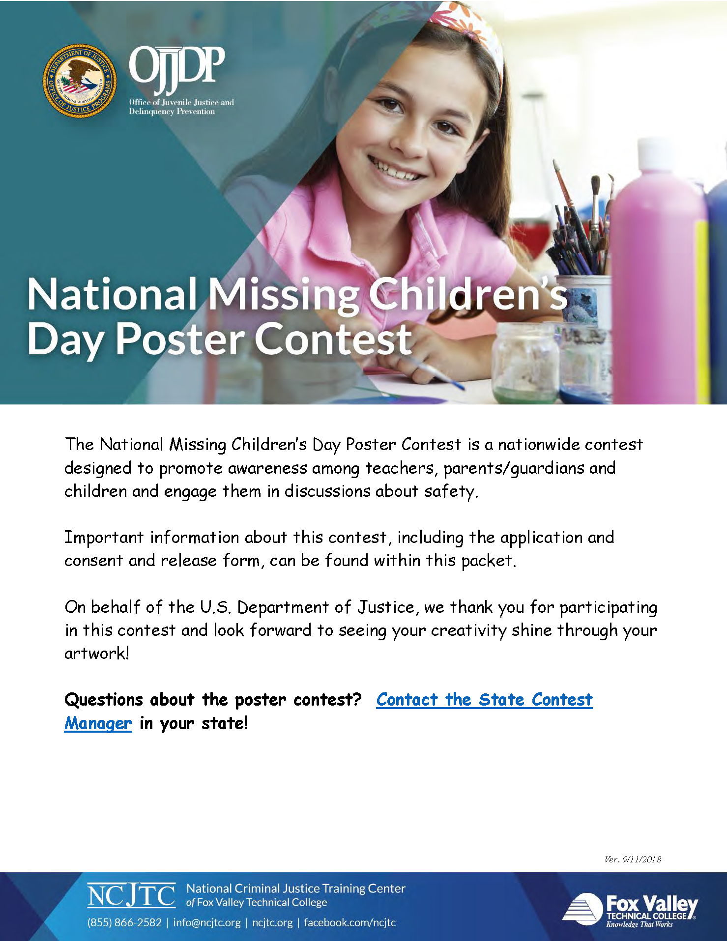 Missing Children's Day Poster Contest Packet