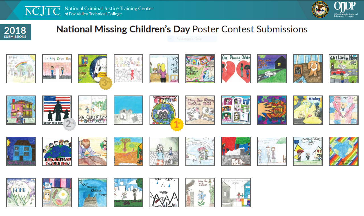 Missing Children's Day 2018 Poster Submissions