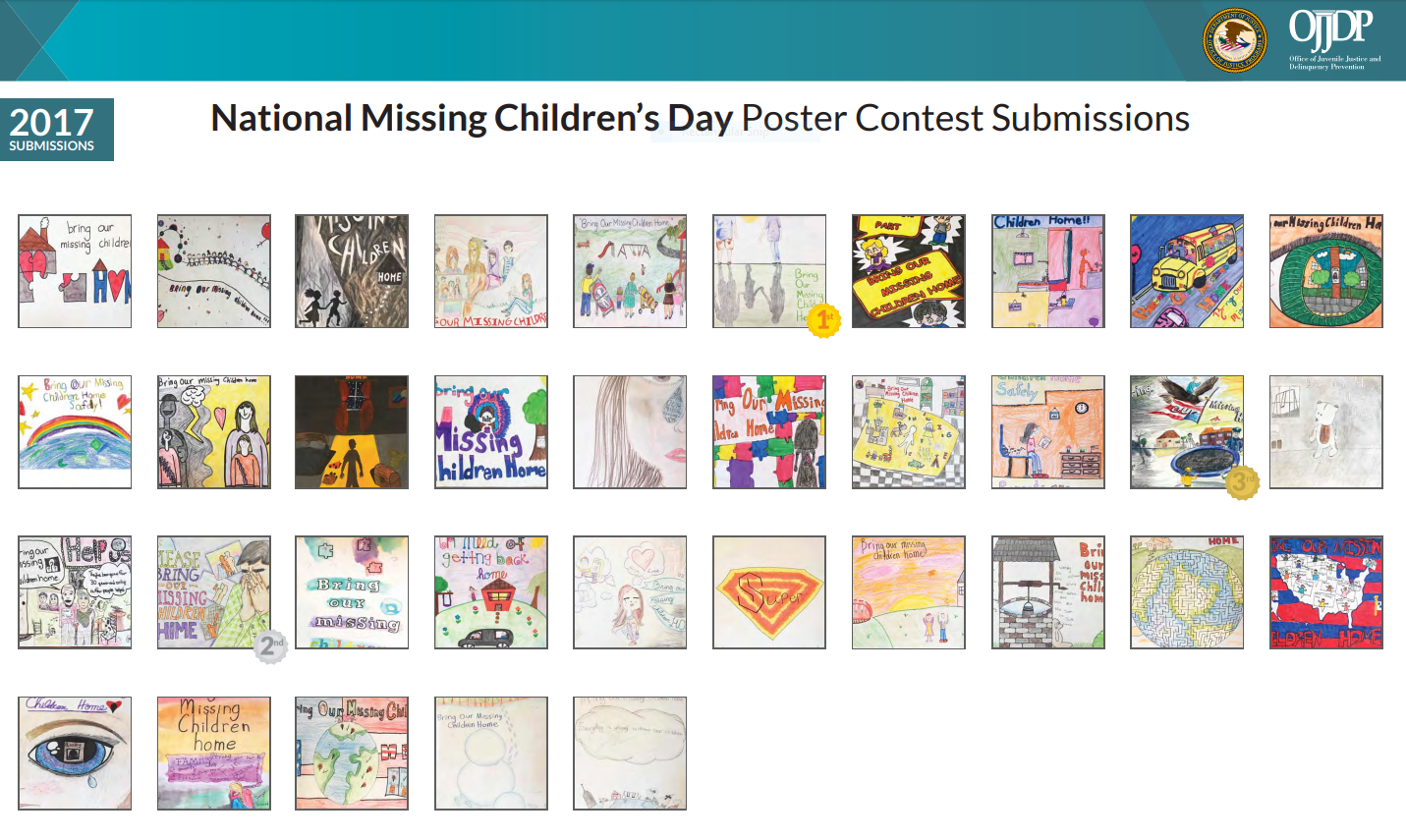 Missing Children's Day 2017 Poster Submissions