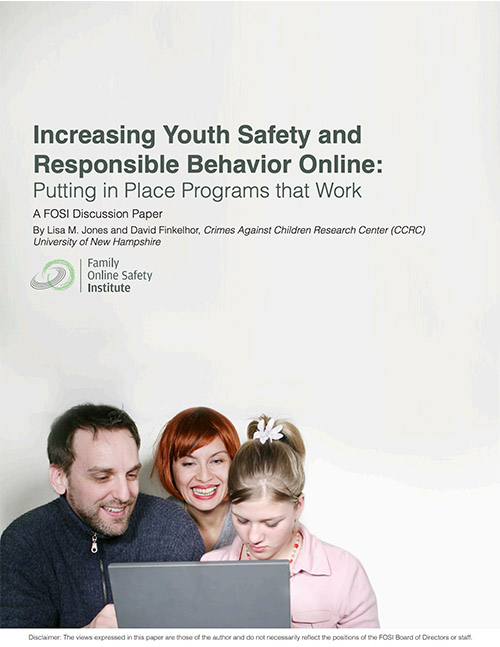 Increasing Youth Safety and Responsible Behavior Online: Programs that Work