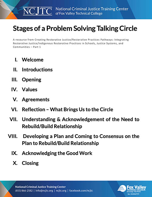 Stages of a Problem Solving Talking Circle