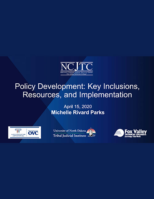 OVC Policy and Procedures: Policy Development presentation (Part 3)