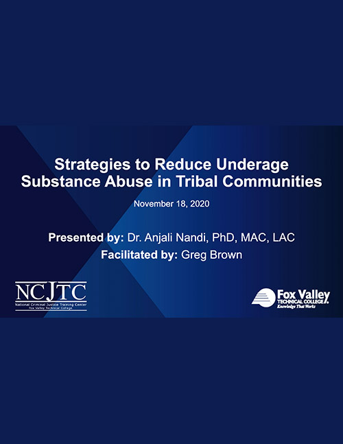 Strategies to Reduce Underage Substance Abuse - Powerpoint