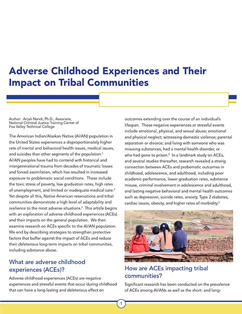 ACEs and Their Impact on Tribal Communities - Resource